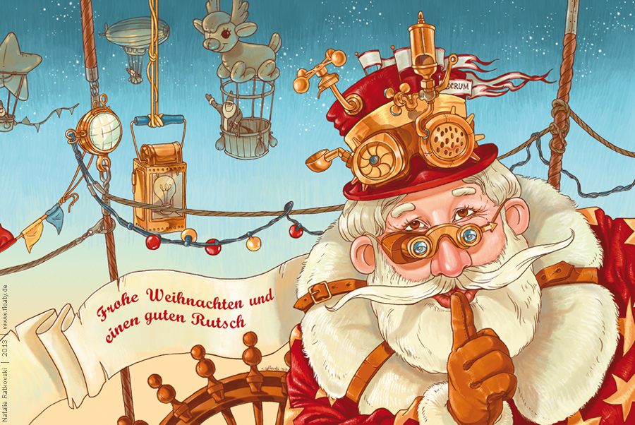My illustration an design for a Christmas card