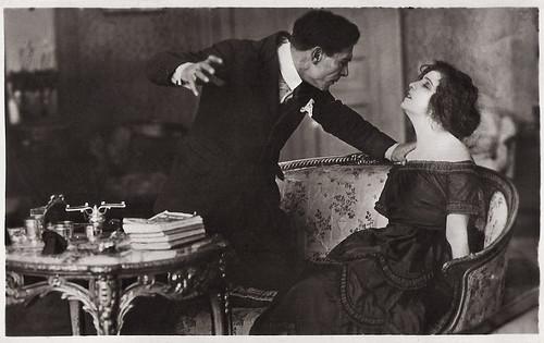 Maria Jacobini & Amleto Novelli in La casa di vetro