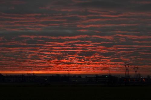 sky sun water clouds sunrise reflections dawn countryside alba cloudscape