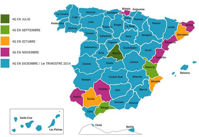 Tecnoxplora el mapa de la cobertura 4g para darle - Internet en valencia ...