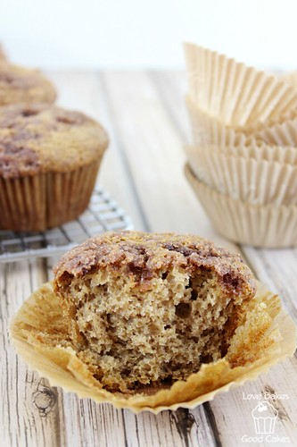 Cinnamon Applesauce Crunch Muffins #muffins #cinnamon #applesauce #breakfast