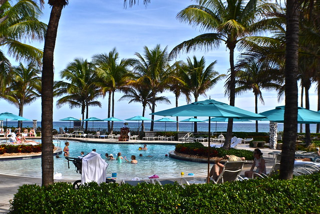 Family fun at the beach club at the breakers palm beach - Palm beach pool ...