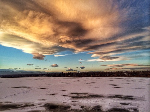 winter sunset usa lake nature frozen colorado day cloudy denver sloanslake