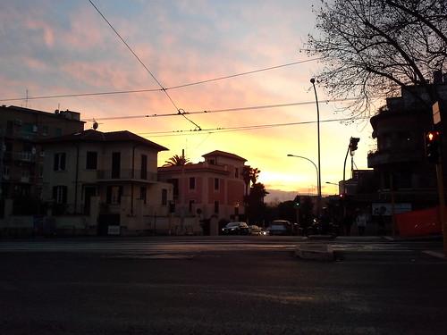 Tramonto su monteverde nuovo, Roma