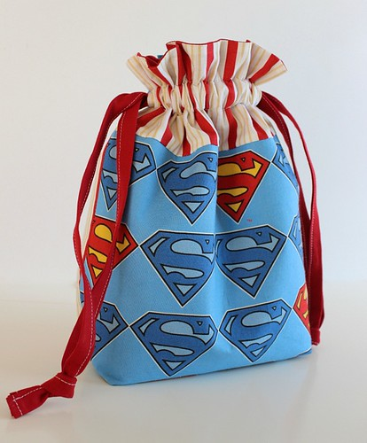 Superman Drawstring Bag