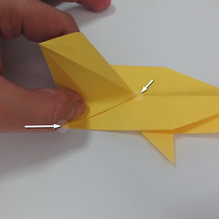 สอนวิธีพับกระดาษเป็นรูปลูกสุนัขยืนสองขา แบบของพอล ฟราสโก้ (Down Boy Dog Origami) 054