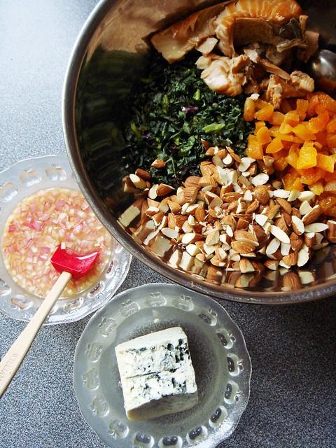 Kale Salmon Farro Salad