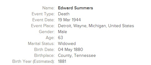 Leon Edward Summers WWII DR