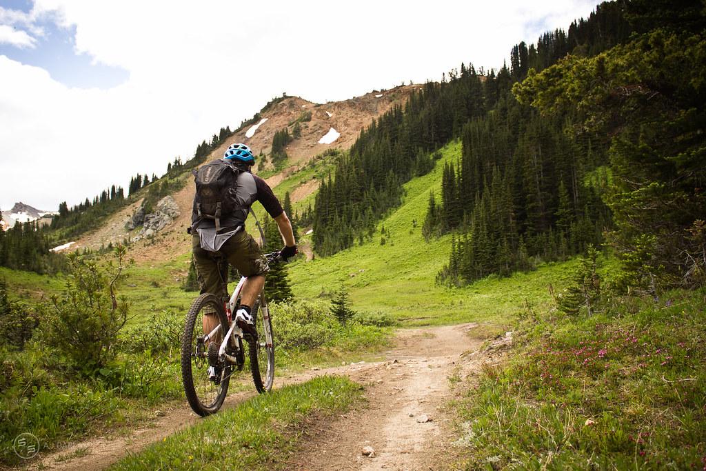 David Reid Climbing out of Taylor Basin