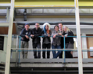 Team3 on the balcony at CERN