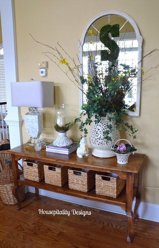 Garden Stool Vase Vignette