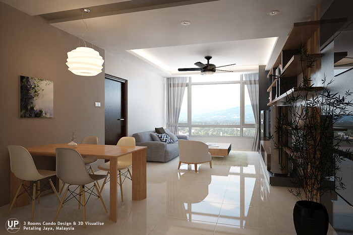 Residential_minimalist interior design idea_3 Rooms Condominium_Living Dining Room_Petaling jaya_Malaysia_02