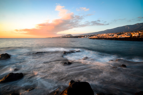 ocean longexposure mountain rock sunrise day waves glow le tenerife swirl candelaria puntalarga nikond800 distagon1835zf carlzeiss18mm35zf2 pwpartlycloudy lascalletillas