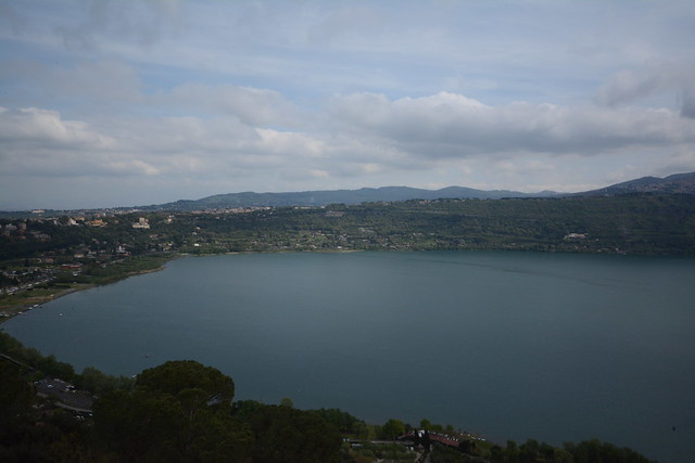 View of the lake at Castel Gandolfo