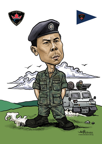 digital caricature for SAF - 02042014