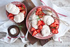Dessert with strawberry and meringues