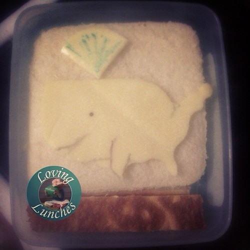 Loving a #repurpose… you say map of USA. I say happy whale  #bento #doyouseewhatisee