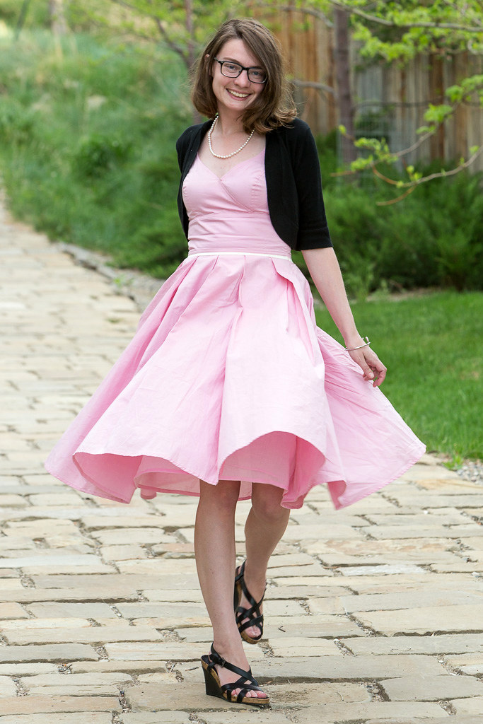 product review, never full dressed, withoutastyle, pink dress, full skirt, wyoming, eshakti,
