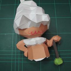 วิธีทำโมเดลกระดาษคุกกี้รสคุกกี้แอนด์ครีม  (Cookie Run Cream Cookie Papercraft Model) 024