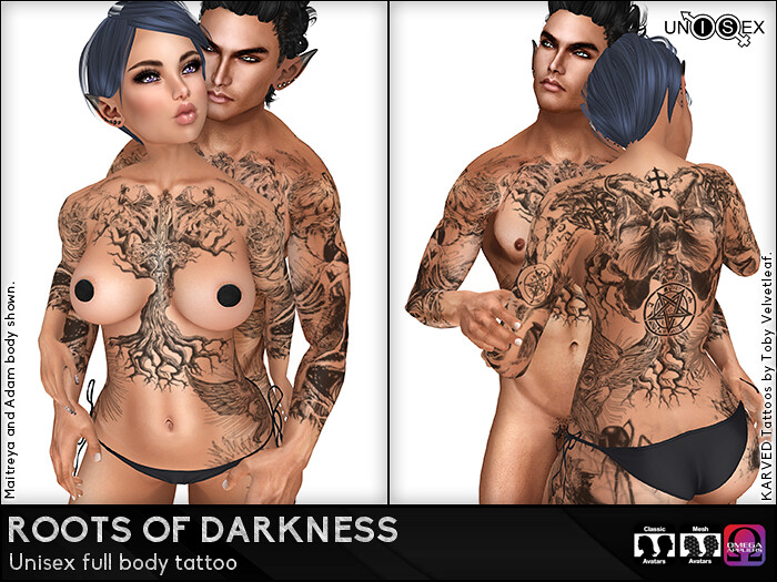 KARVED Roots of Darkness Unisex Tattoo - SecondLifeHub.com