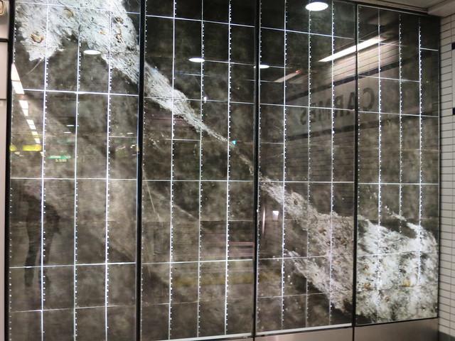 Genèse, Composition (2007) de Jean-Paul Marcheschi pour la station Carmes du métro de Toulouse (31)