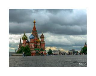 Saint Basil's Cathedral - Cathédrale Saint-Basile-le-Bienheureux de Moscou sur la place rouge