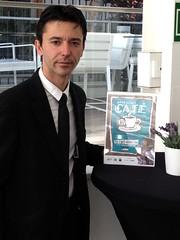 Rúbén Sanz, director de formación de Quality Espresso, fue el encargado de realizar una demostración de Latte Art durante la presentación de la campaña.