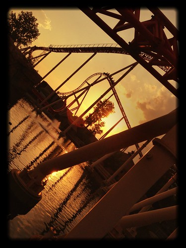 sunset rollercoaster cedarpoint iphone iphone5 uploaded:by=flickrmobile flickriosapp:filter=salamander salamanderfilter