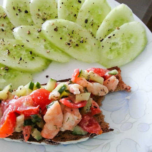 Shrimp and Tomato Toasts 1