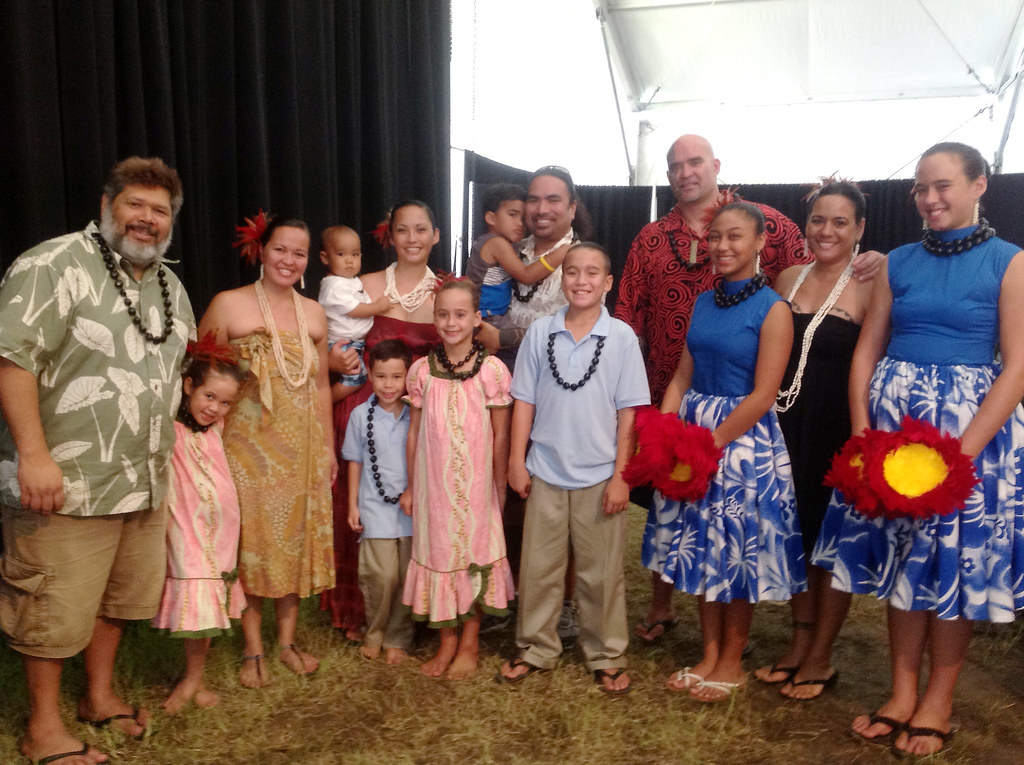 <p>University of Hawaii performers Aaron Sala, Gary Krug and Kihei Nahale-A and their ohana prepare to take the main stage at the Smithsonian Folklife Festival. The group will share Hawaiian hula, mele and oli.</p>