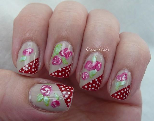 polka dots + roses 2
