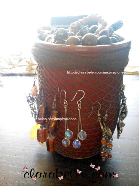 Inspiraciones manualidades y reciclaje organizar pendientes o aretes con medias de rejilla y - Rejillas de barro ...