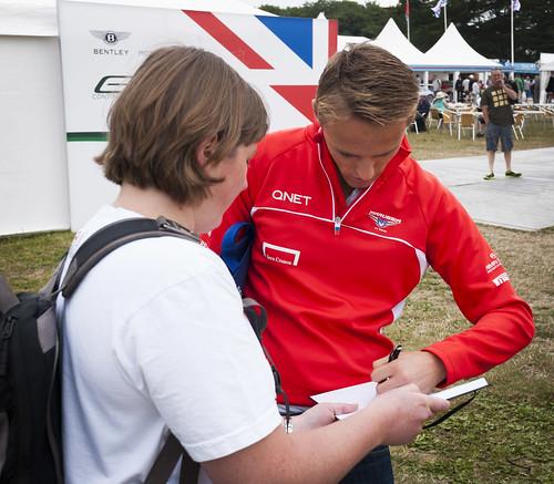 Max Chilton autograph