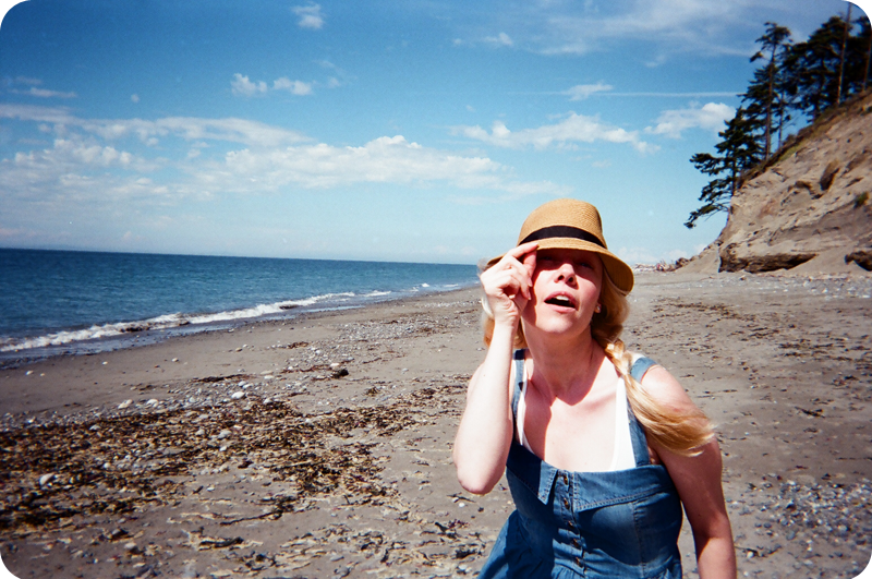 {disposable camera} beach bound | enjoying the breeze