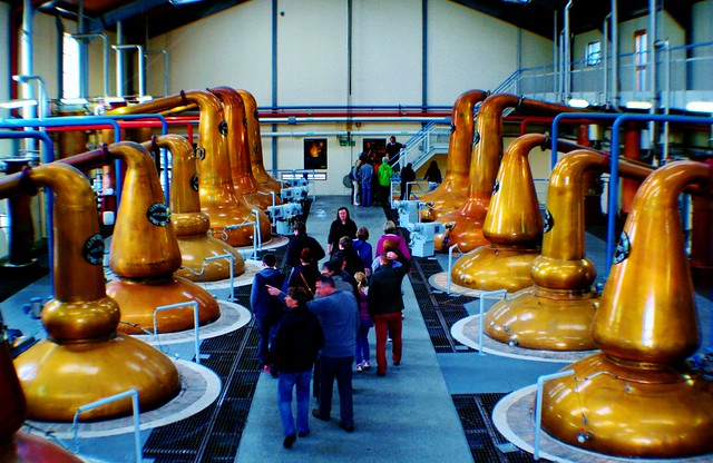 Whisky Stills at Glenfiddich Distillery, Dufftown, Scotland