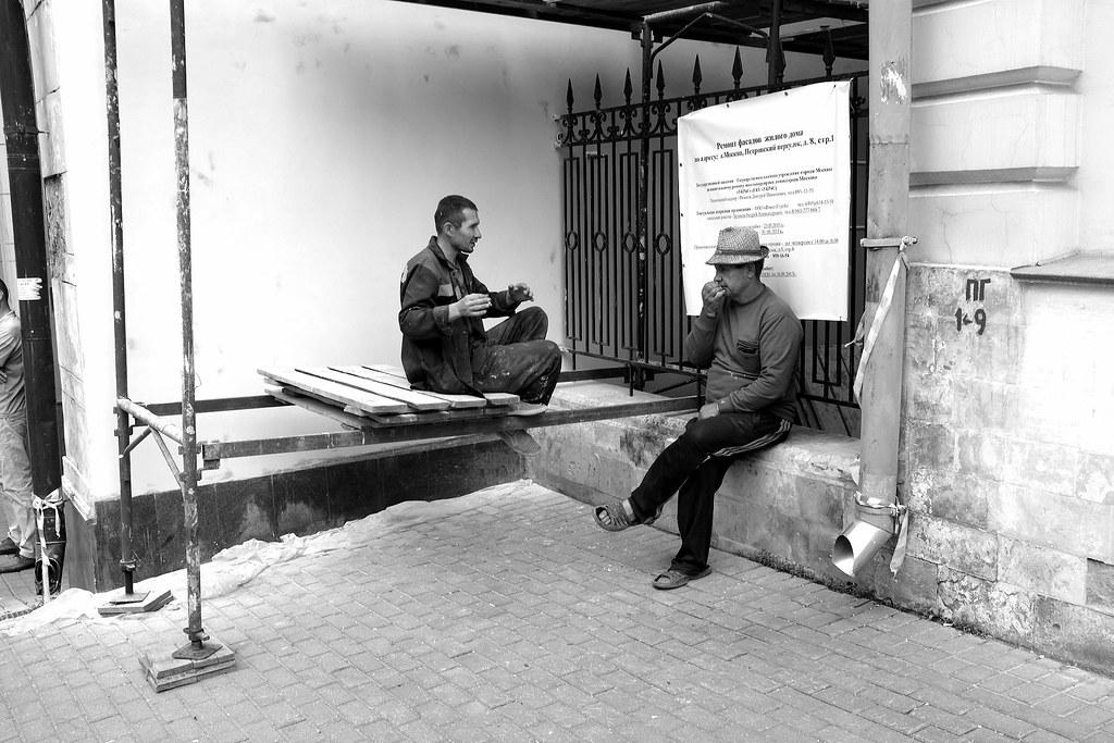 Gastarbeiter's life, Petrovsky Lane, Moscow