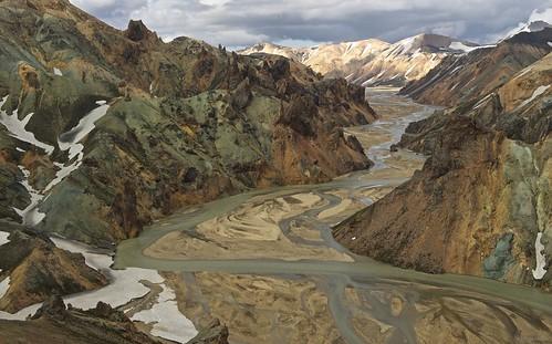 iceland helicopter landmannalaugar jökulgilriver