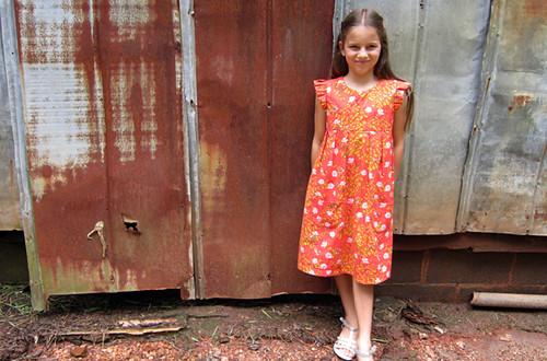 Geranium dress for Aria