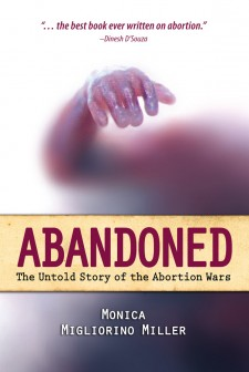 cover of Abandoned, with features a baby's arm