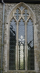 An early 14th C. chancel window, the Church of St Mary, Redgrave, Suffolk, England