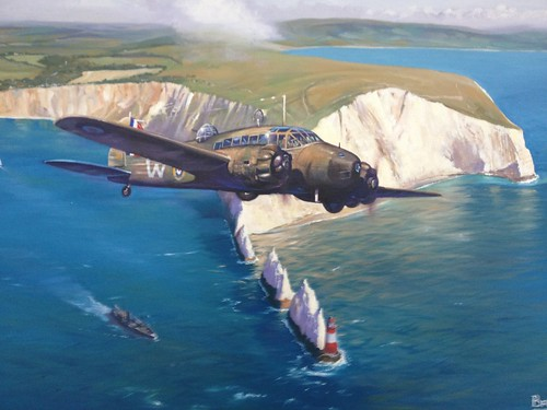 Coastal Patrol - Avro Arison? over the Needles