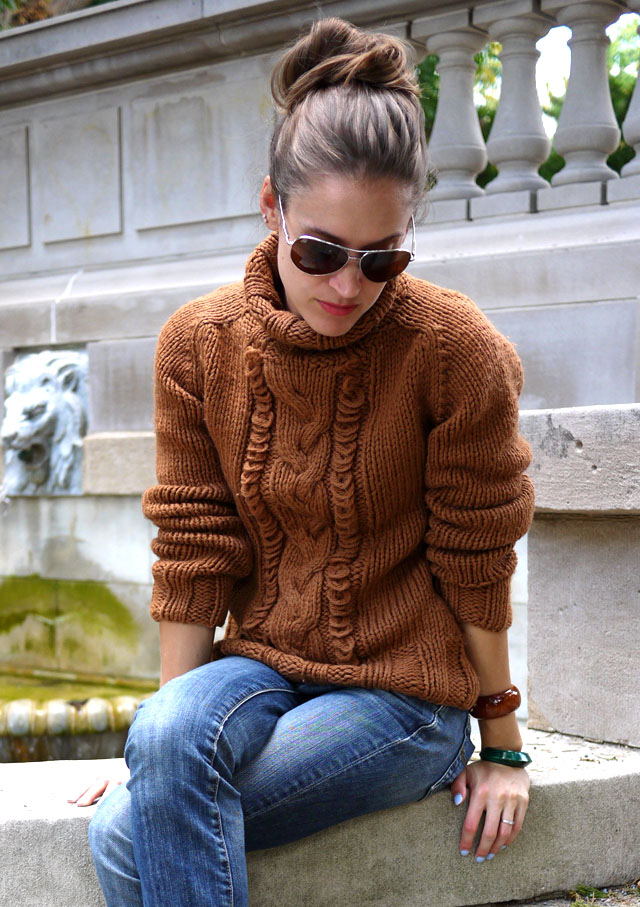 3 fair trade handmade chunky knit sweater