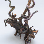 """Uprooted 1"" by Jenny Schu Beaded tendrils, found and finished rose bush root."