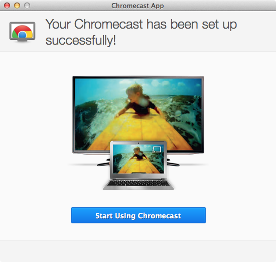 Google Chromecast - Setup Step 7