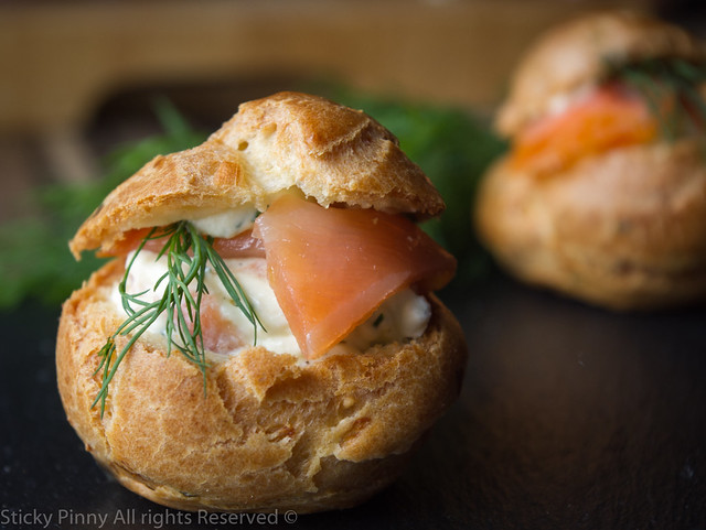 Sticky Pinny Smoked Salmon Choux Buns 3