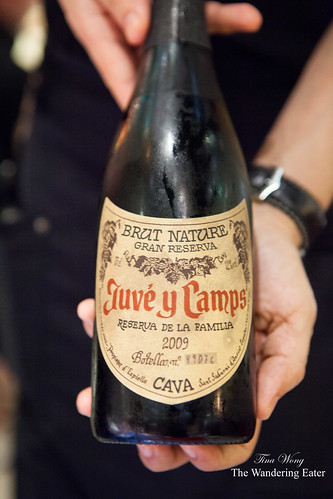 Our bottle of cava: Juve y Camps 2009