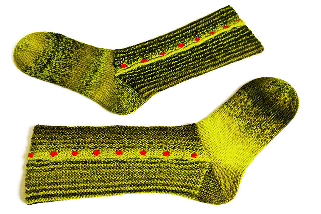 Socks made from 6-ply zauberball