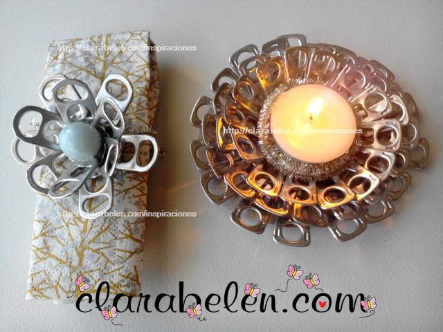 Inspiraciones manualidades y reciclaje econ mico servilletero con anillas de refrescos - Manualidades con chapas de refrescos ...