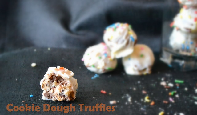 eggless cookie dough truffles