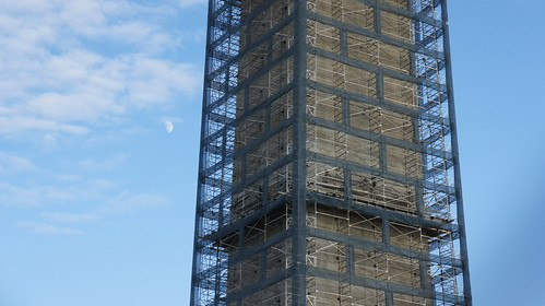 Washington Monument in Scaffolding